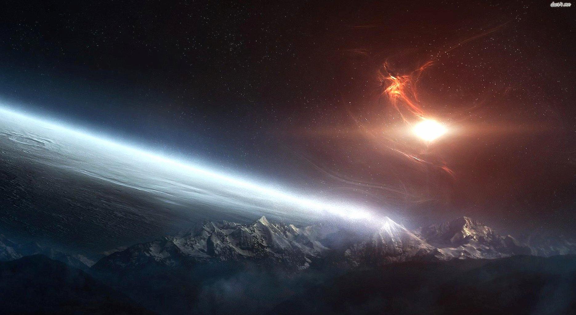 Nebula rise from horizon wallpapers HD quality
