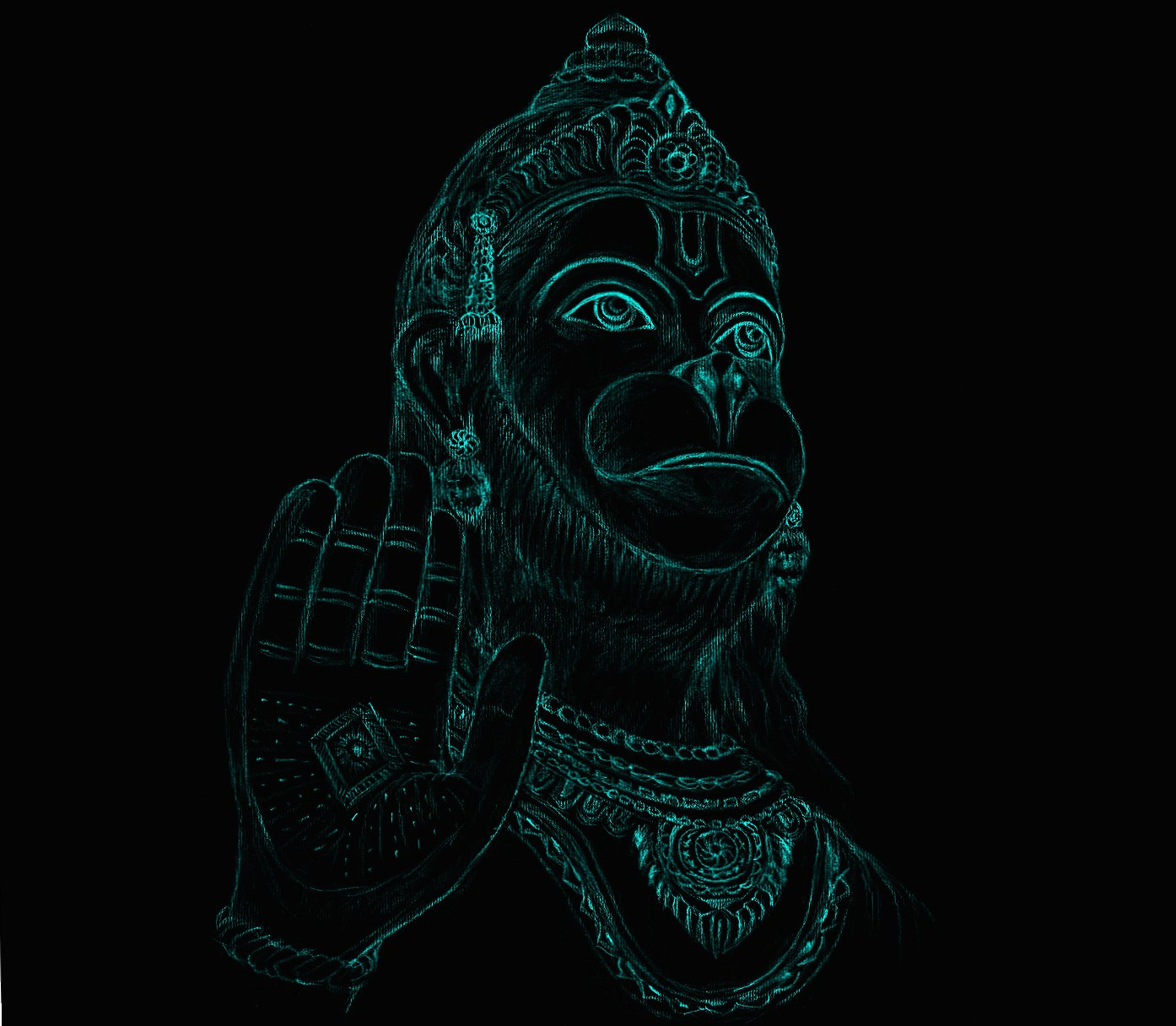 Neon Hanuman wallpapers HD quality