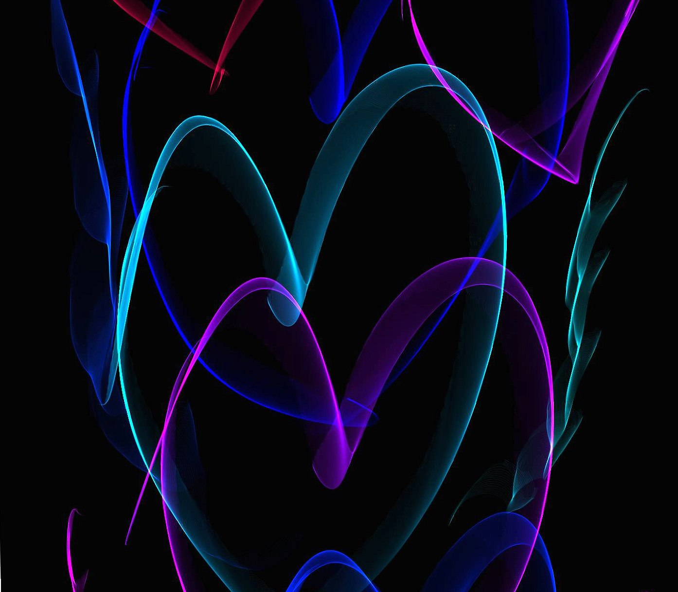 Neon hearts wallpapers HD quality