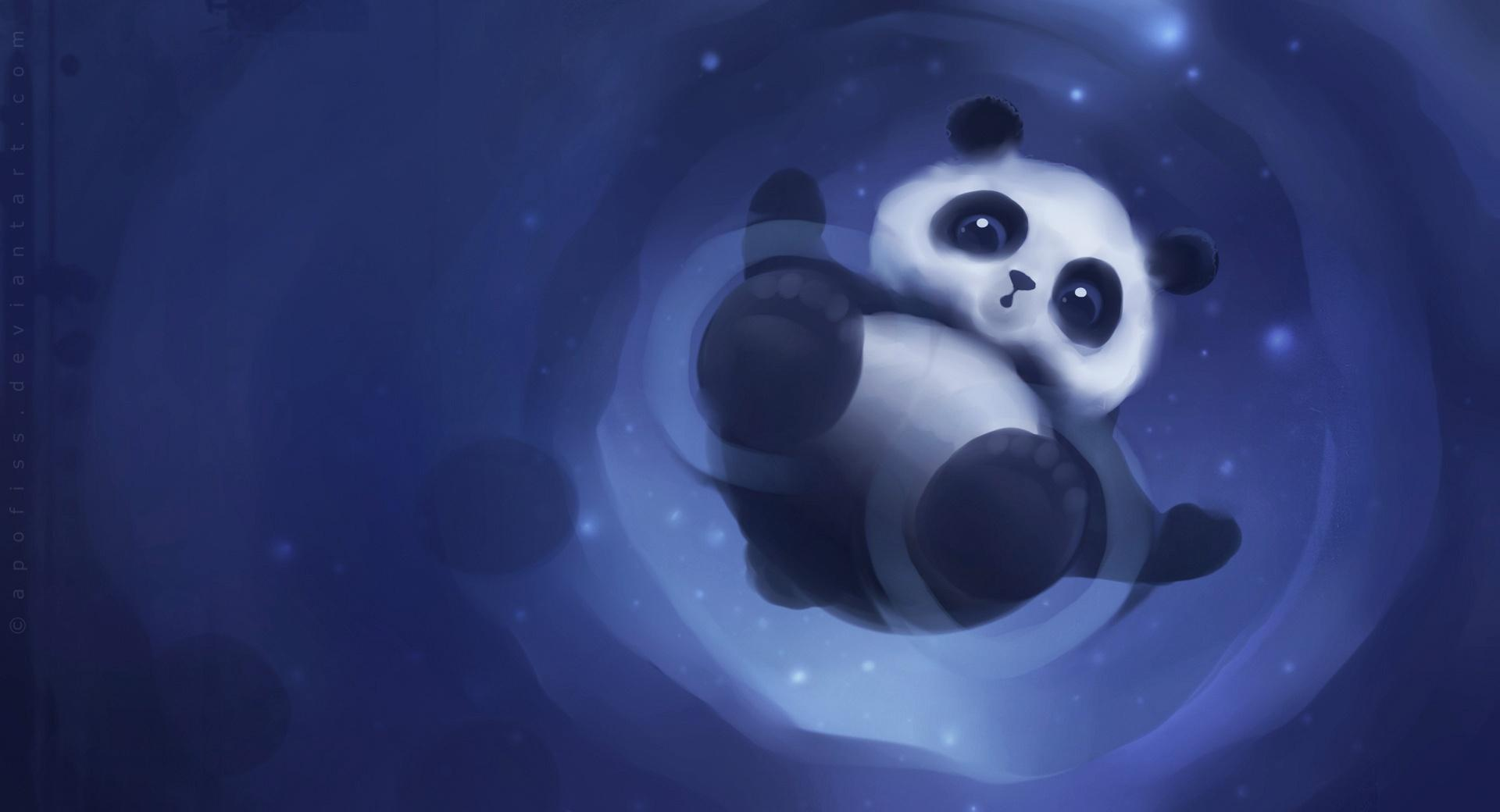 Panda Walking On Water wallpapers HD quality