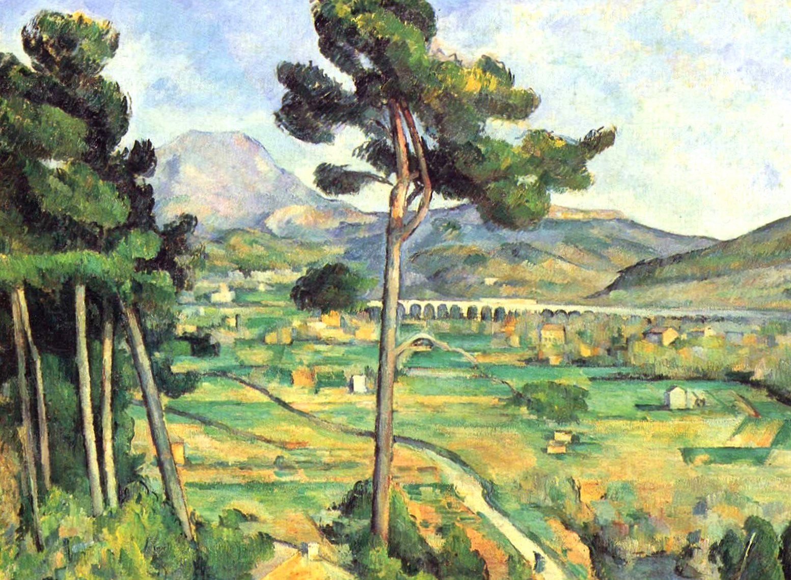Paul cezanne mountains sainte victoire wallpapers HD quality