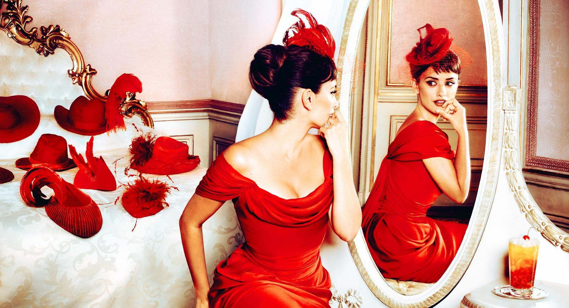 Penelope Cruz in Red Dress wallpapers HD quality