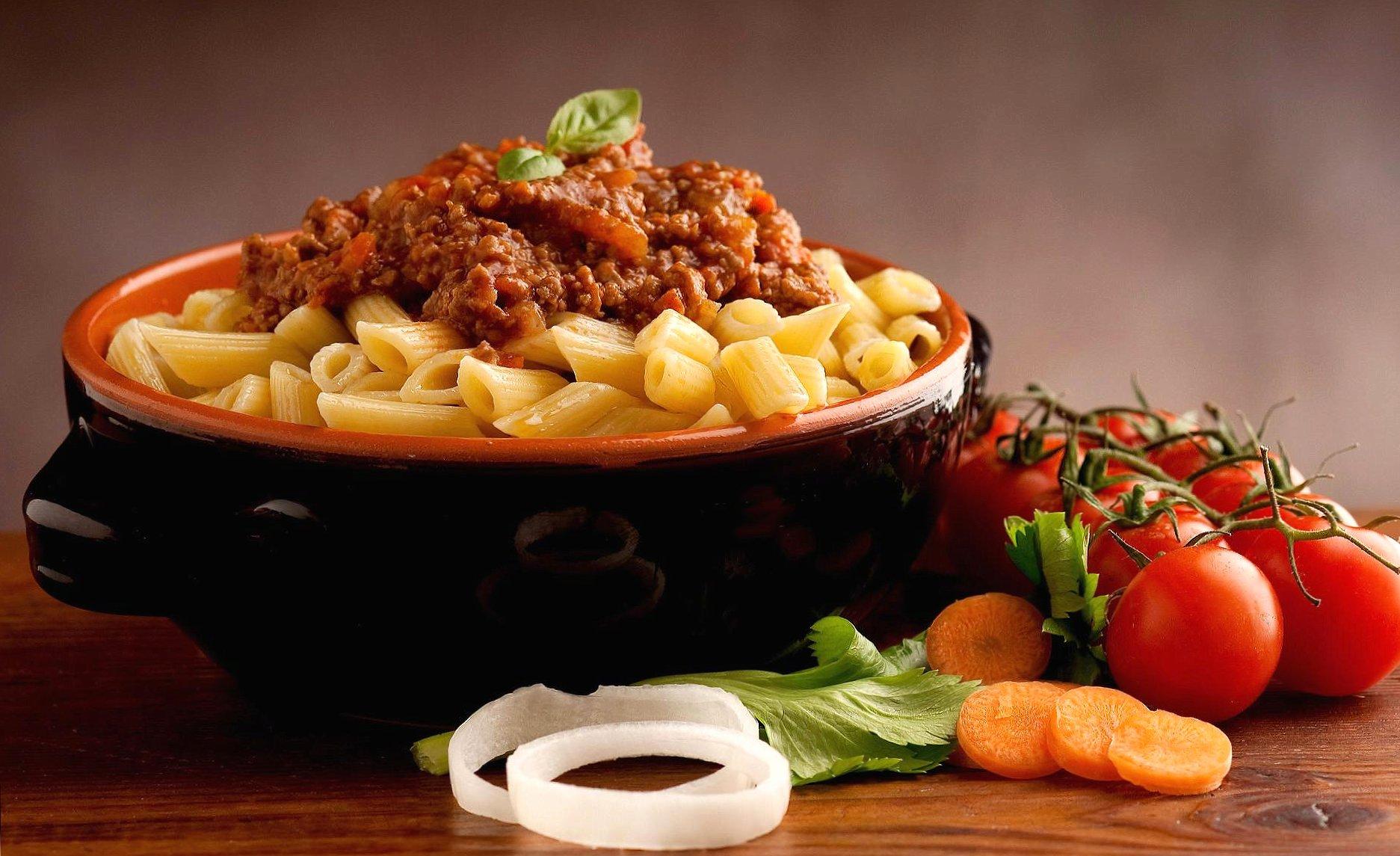 Penne al ragu pasta italy food wallpapers HD quality