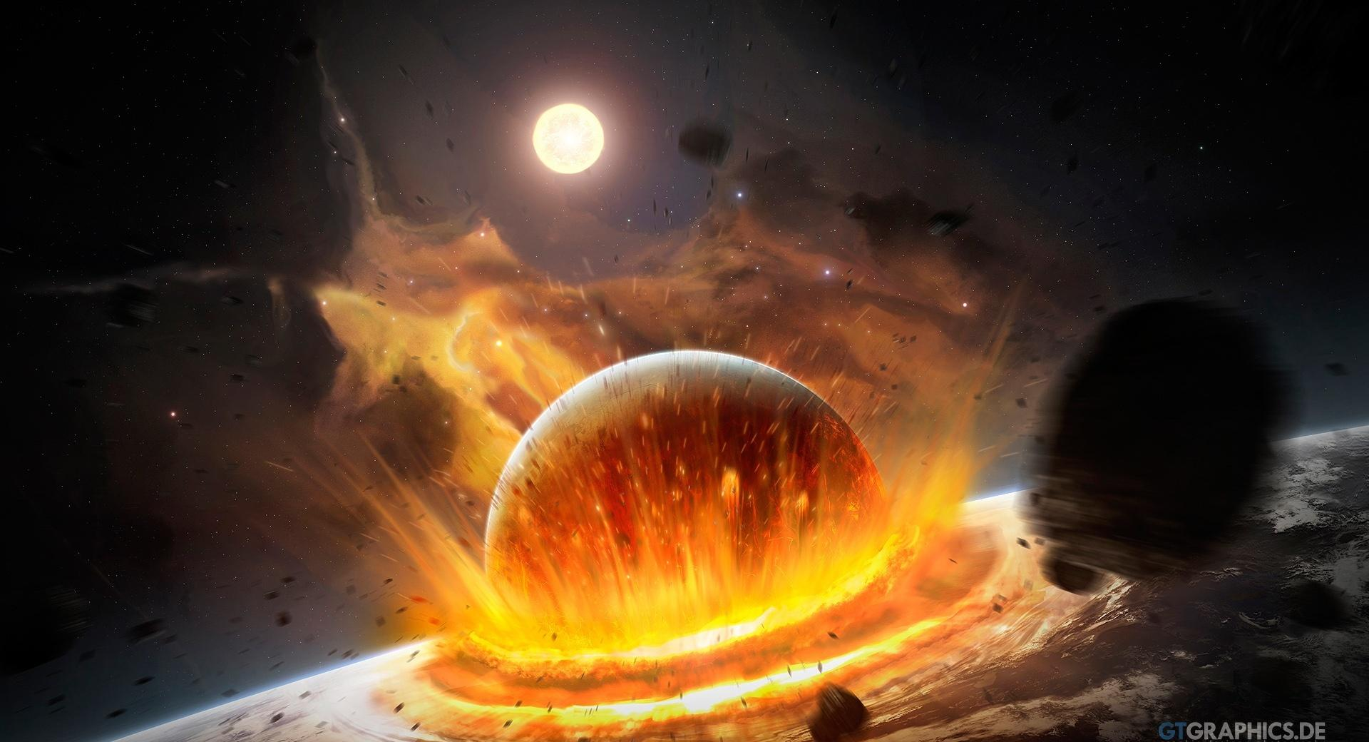 Planet Impact at 750 x 1334 iPhone 6 size wallpapers HD quality