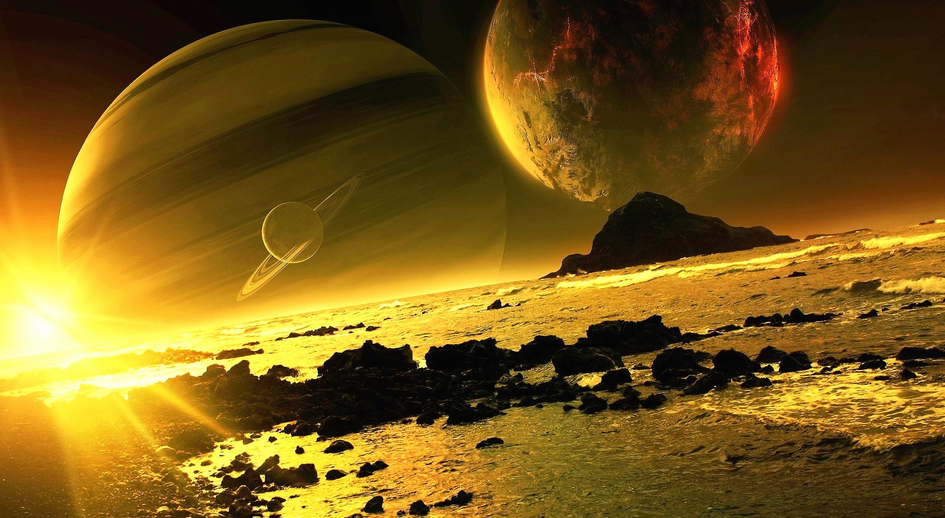 planet scene wallpapers HD quality