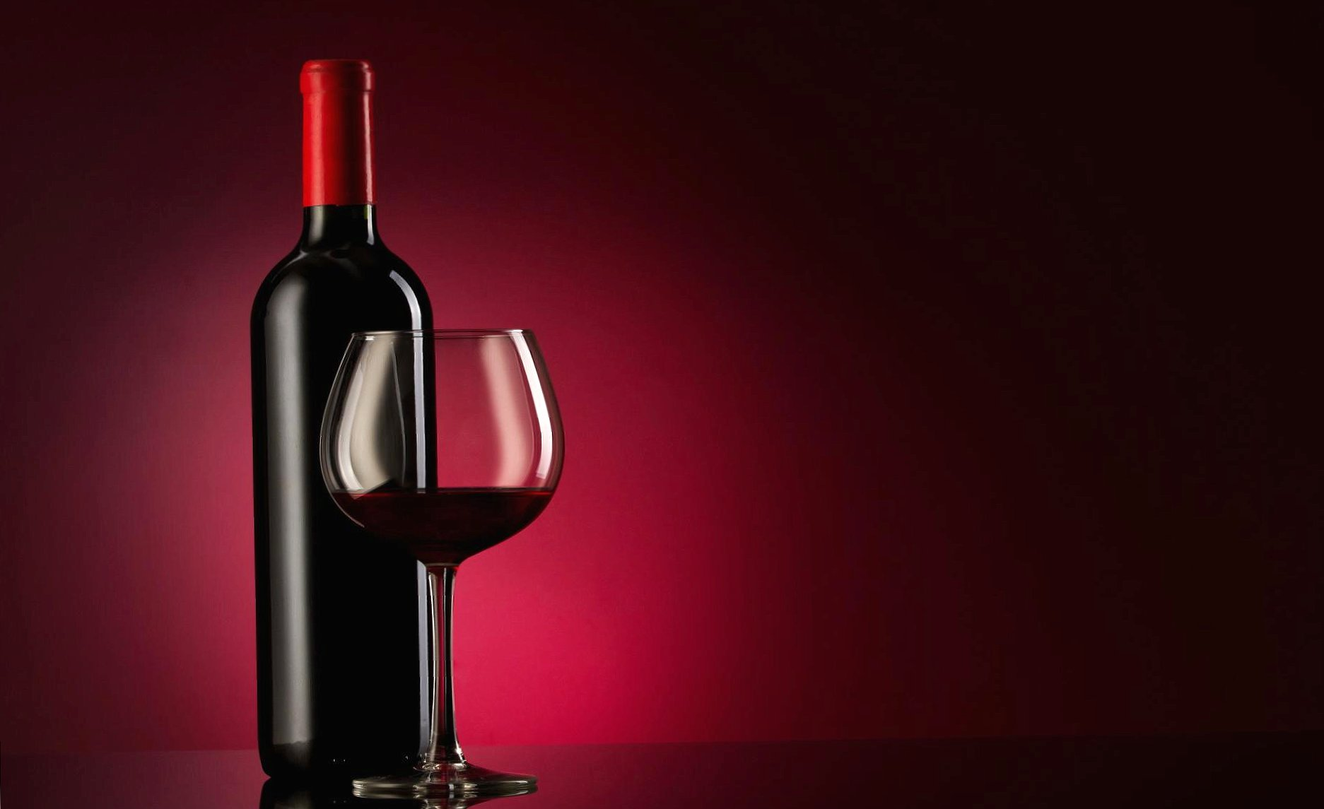 Red wine bottle and glass wallpapers HD quality