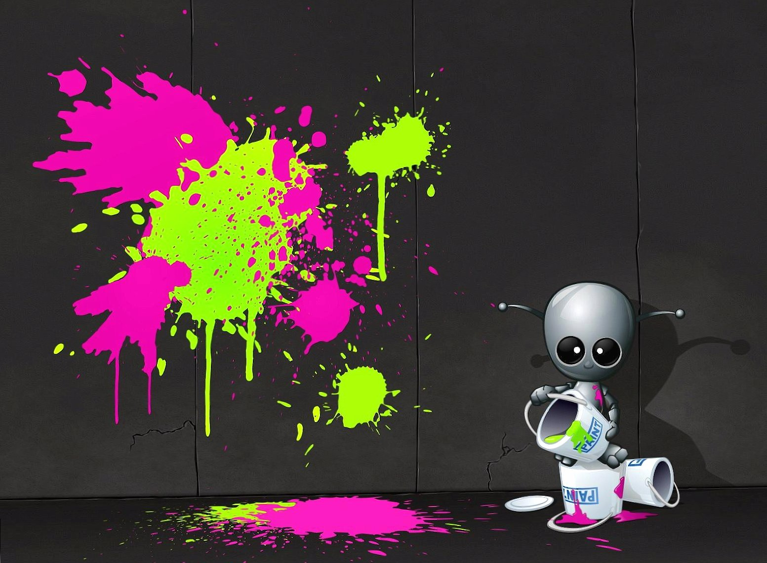 Robot painter digital wallpapers HD quality