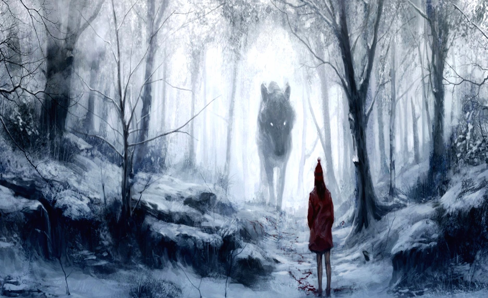 She and wolf fantasy wallpapers HD quality