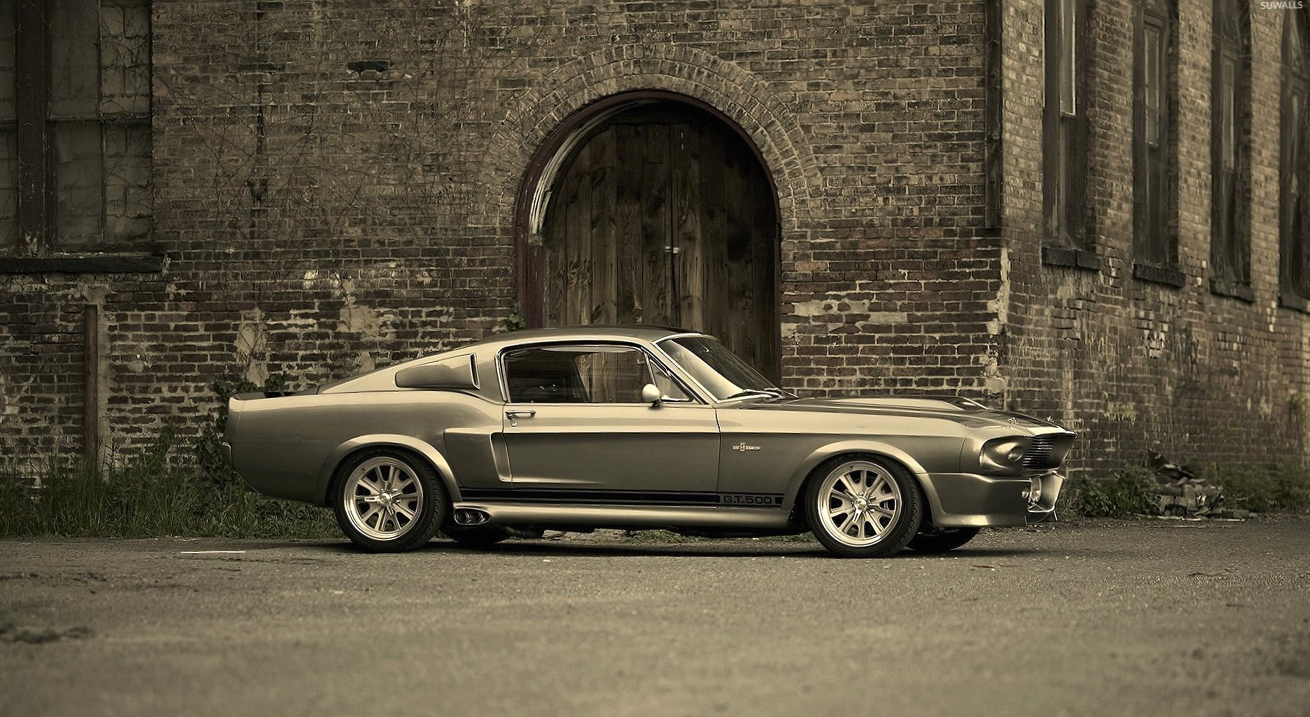 Side view of a 1967 Shelby G.T.500 wallpapers HD quality