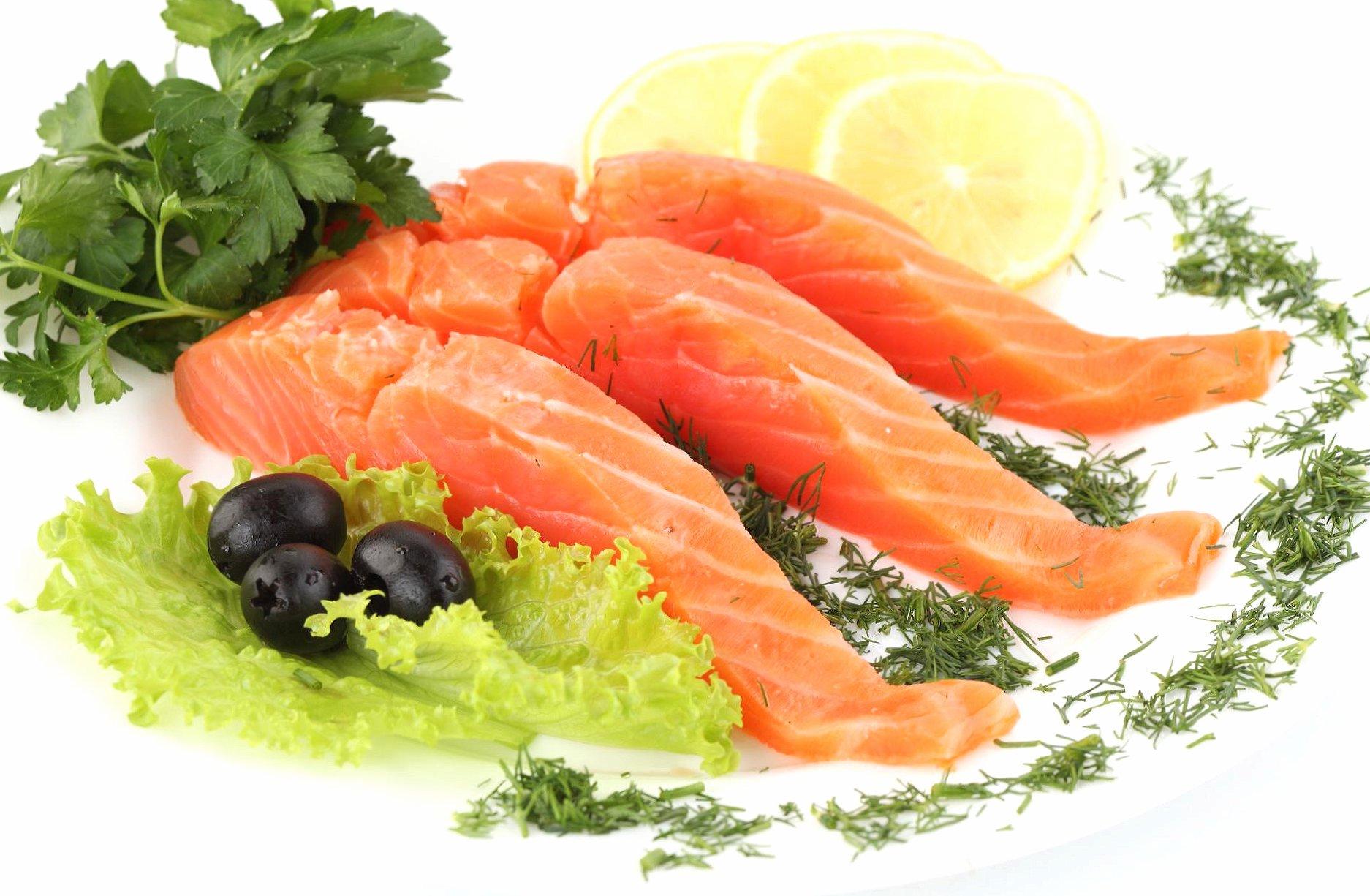 Sliced salmon fish food wallpapers HD quality