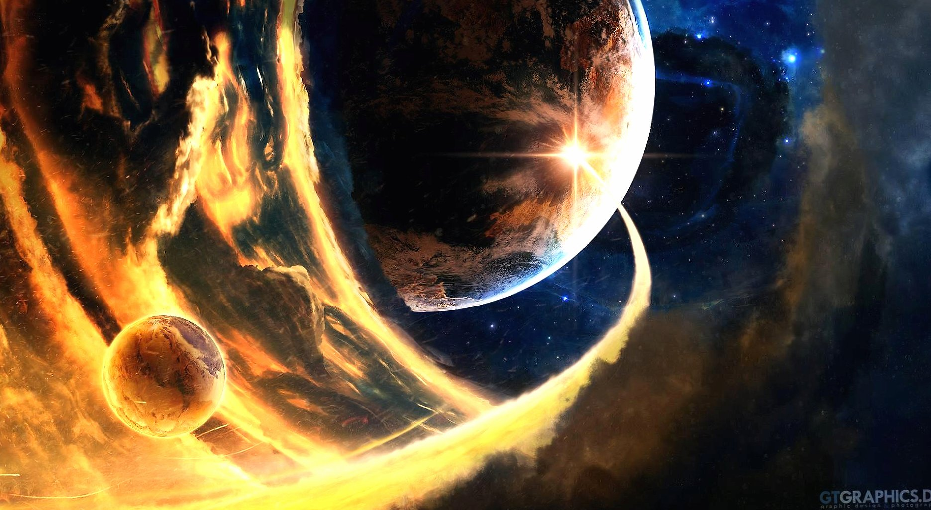 Space collapse event wallpapers HD quality
