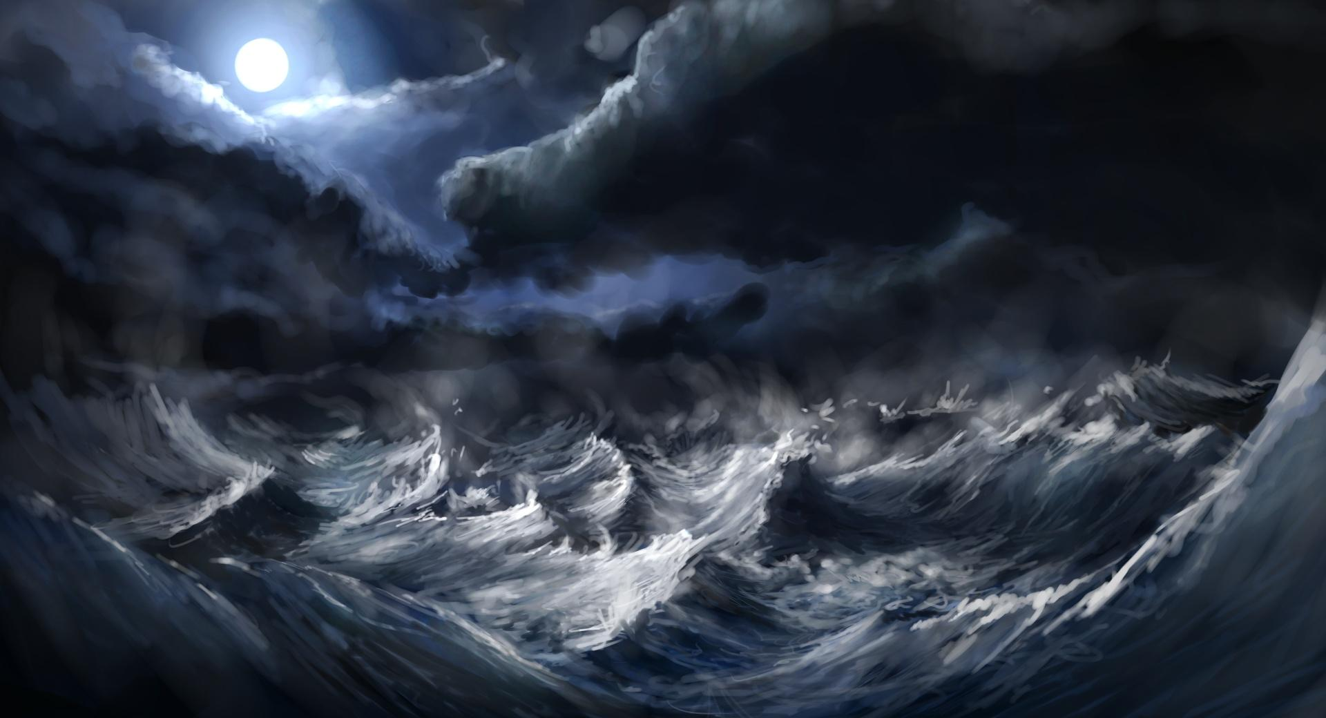 Stormy Sea Painting wallpapers HD quality