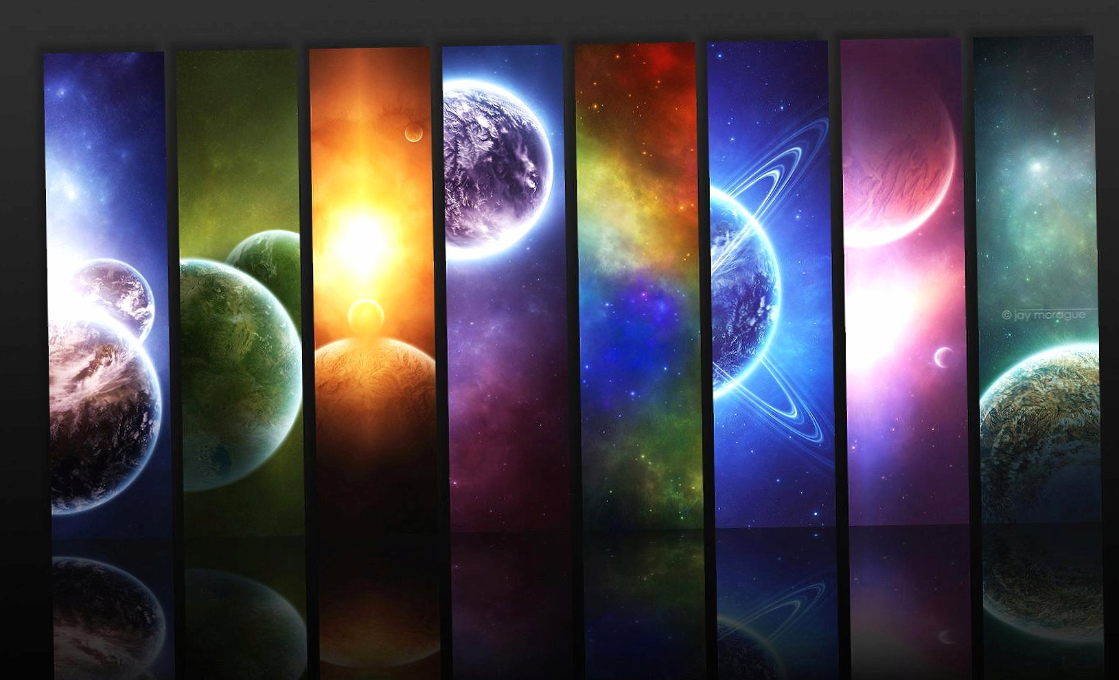 striped abstract universe planets wallpapers HD quality