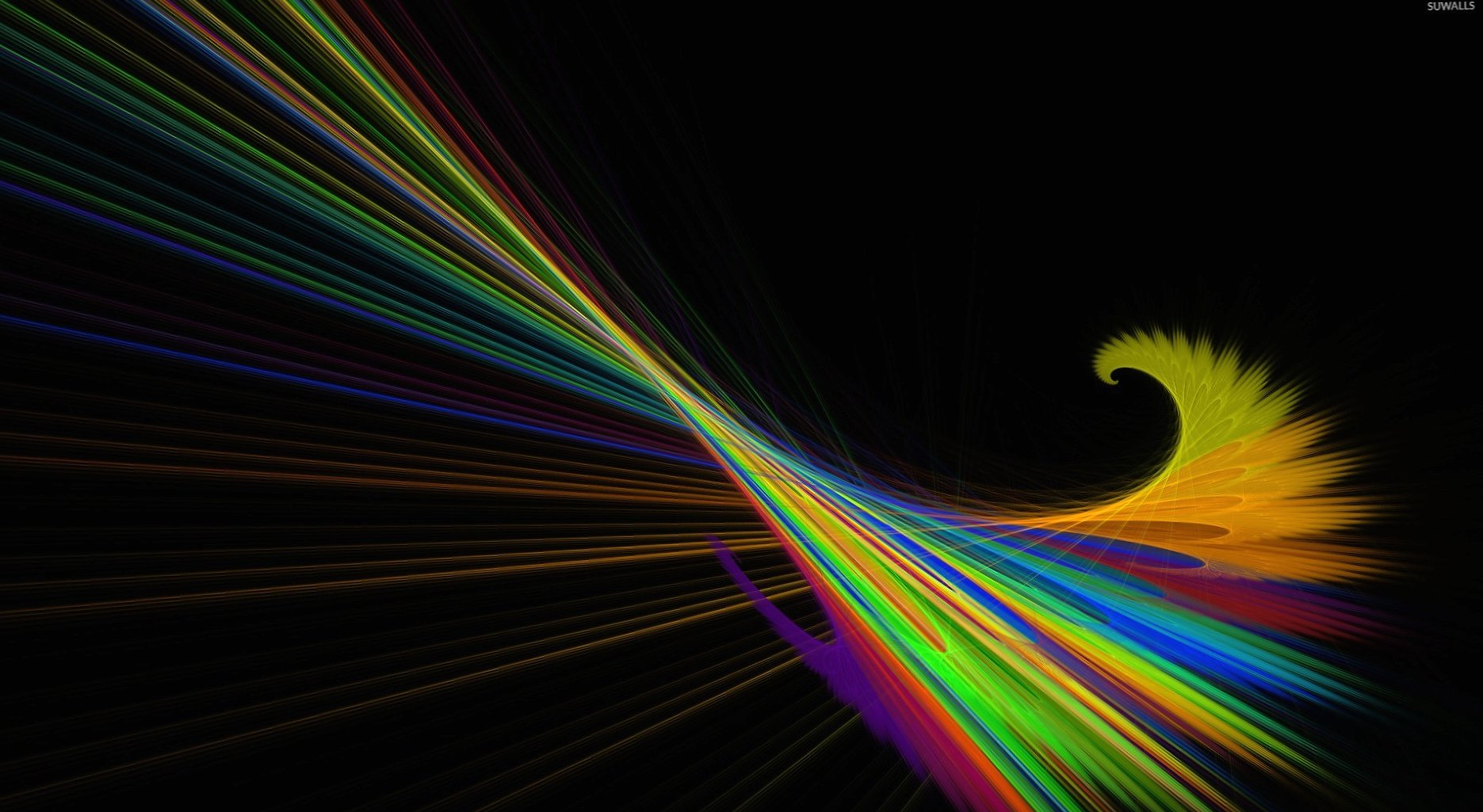Swirly colorful lines wallpapers HD quality