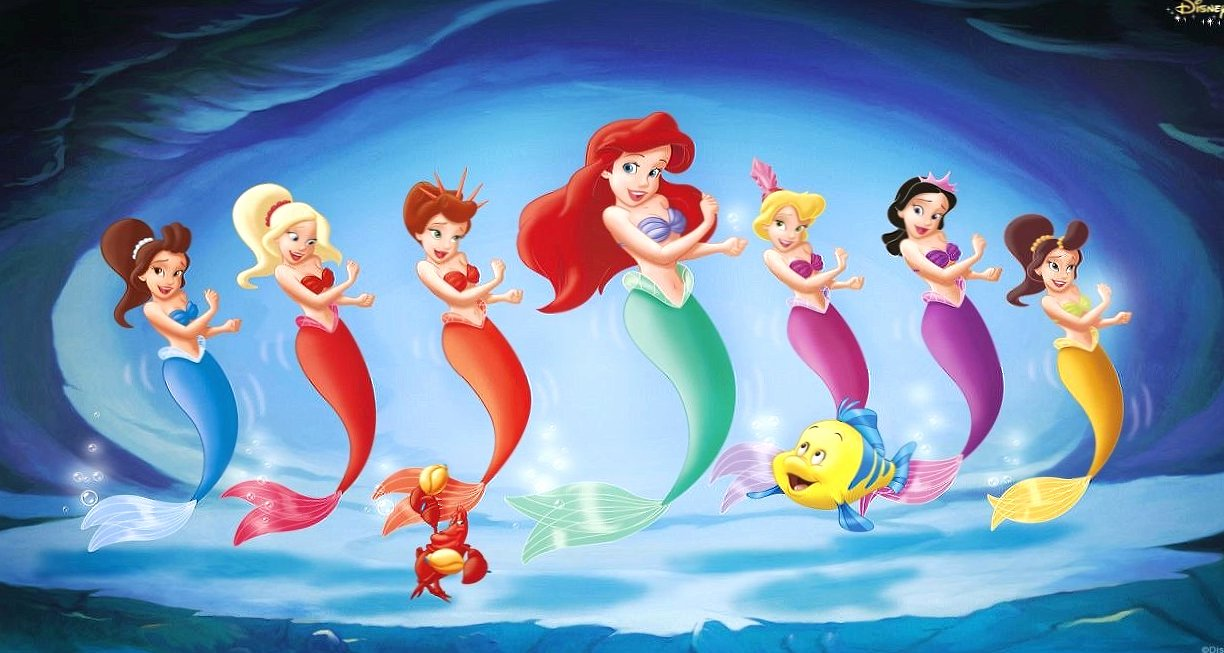 The little mermaid and friends wallpapers HD quality