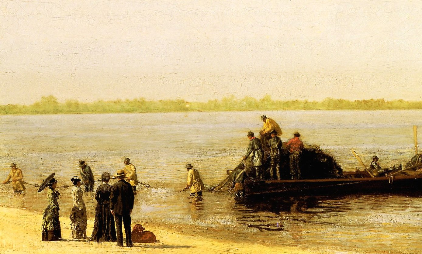 thomas eakins shad fishing at gloucester delaware river wallpapers HD quality
