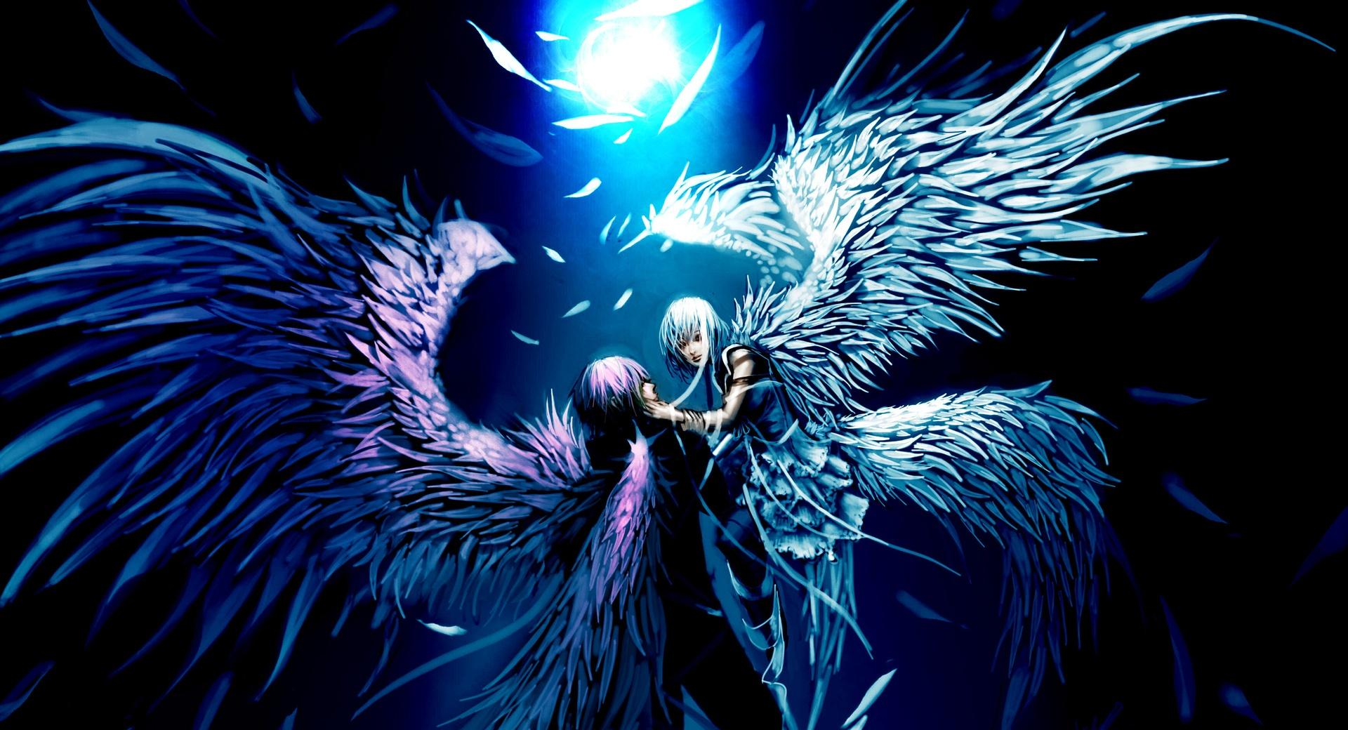 Two Angels Love Anime wallpapers HD quality