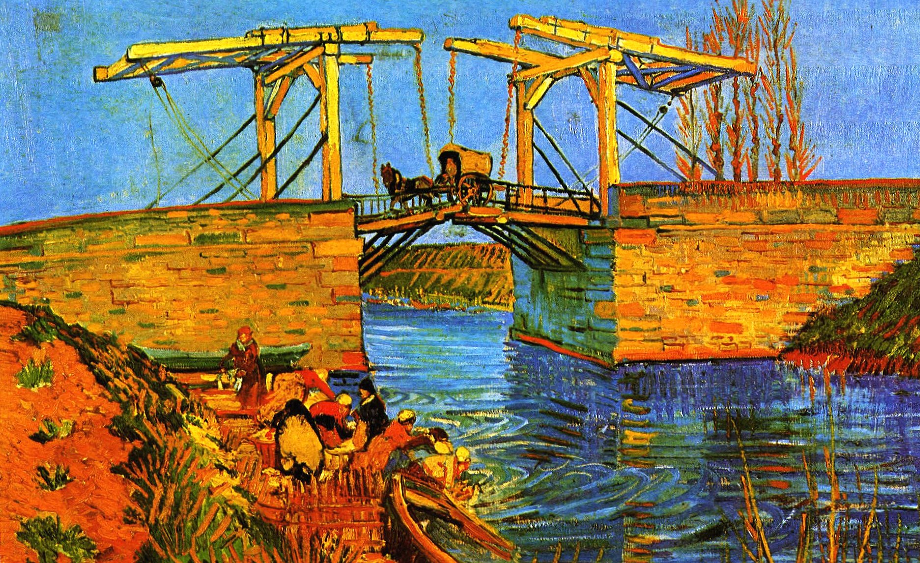 Vincent van gogh bridge wallpapers HD quality