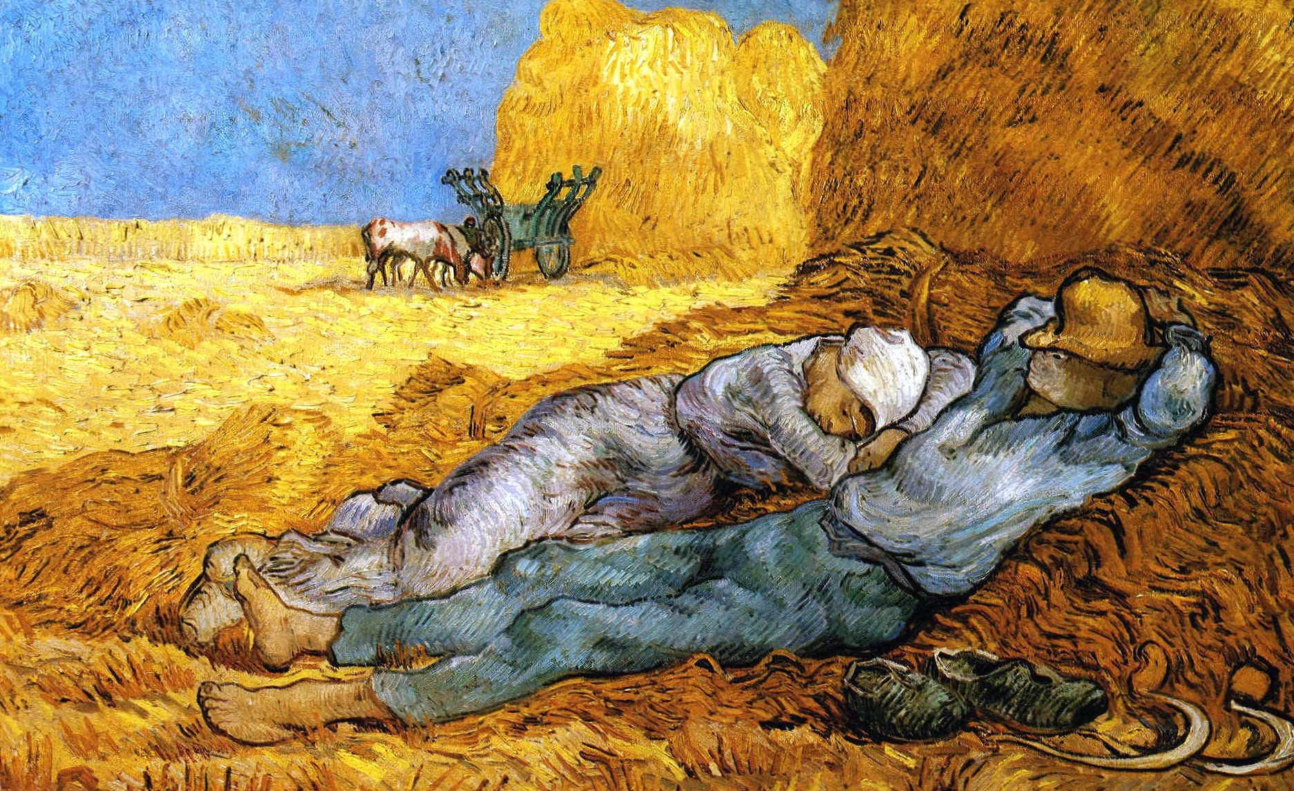 Vincent van gogh rest of the laborers wallpapers HD quality