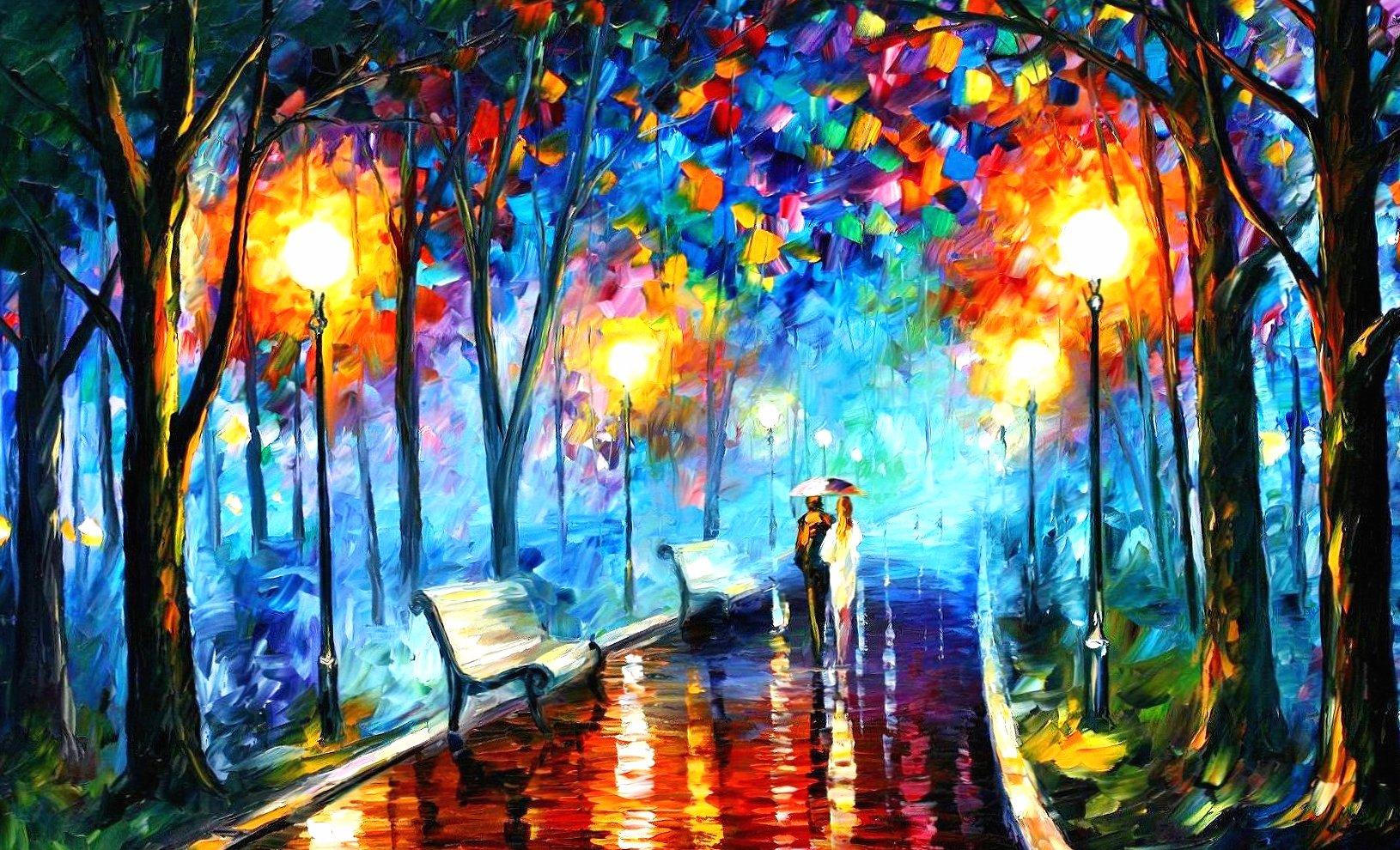 vincent van gogh santa lighs night umbrella wallpapers HD quality