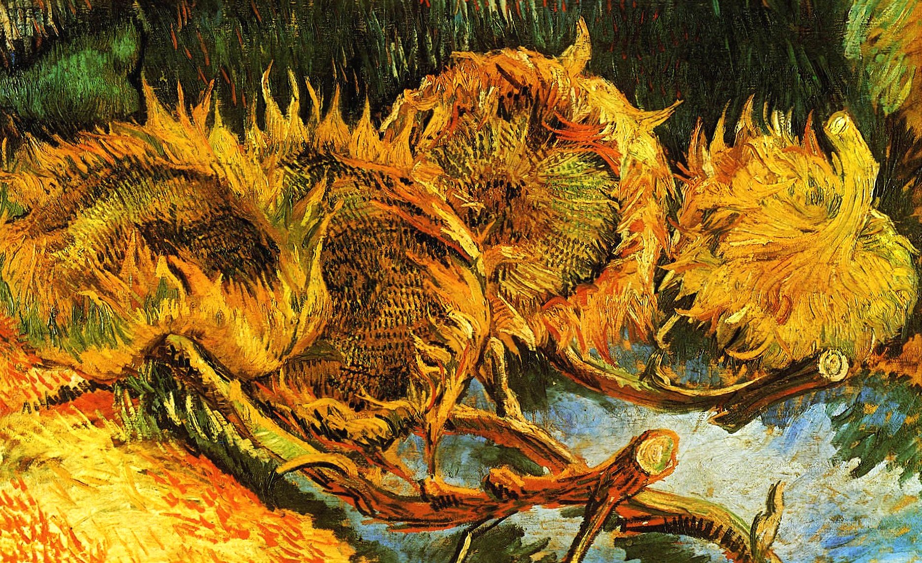 Vincent van gogh still life sunflowers wallpapers HD quality