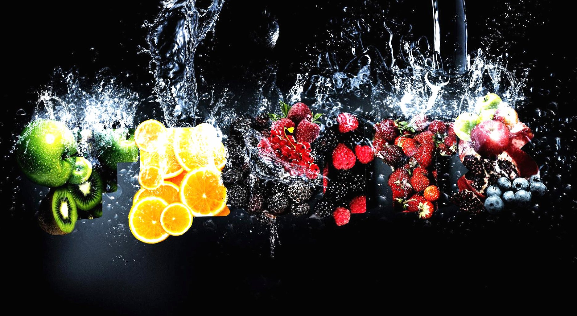 Water and fruits wallpapers HD quality