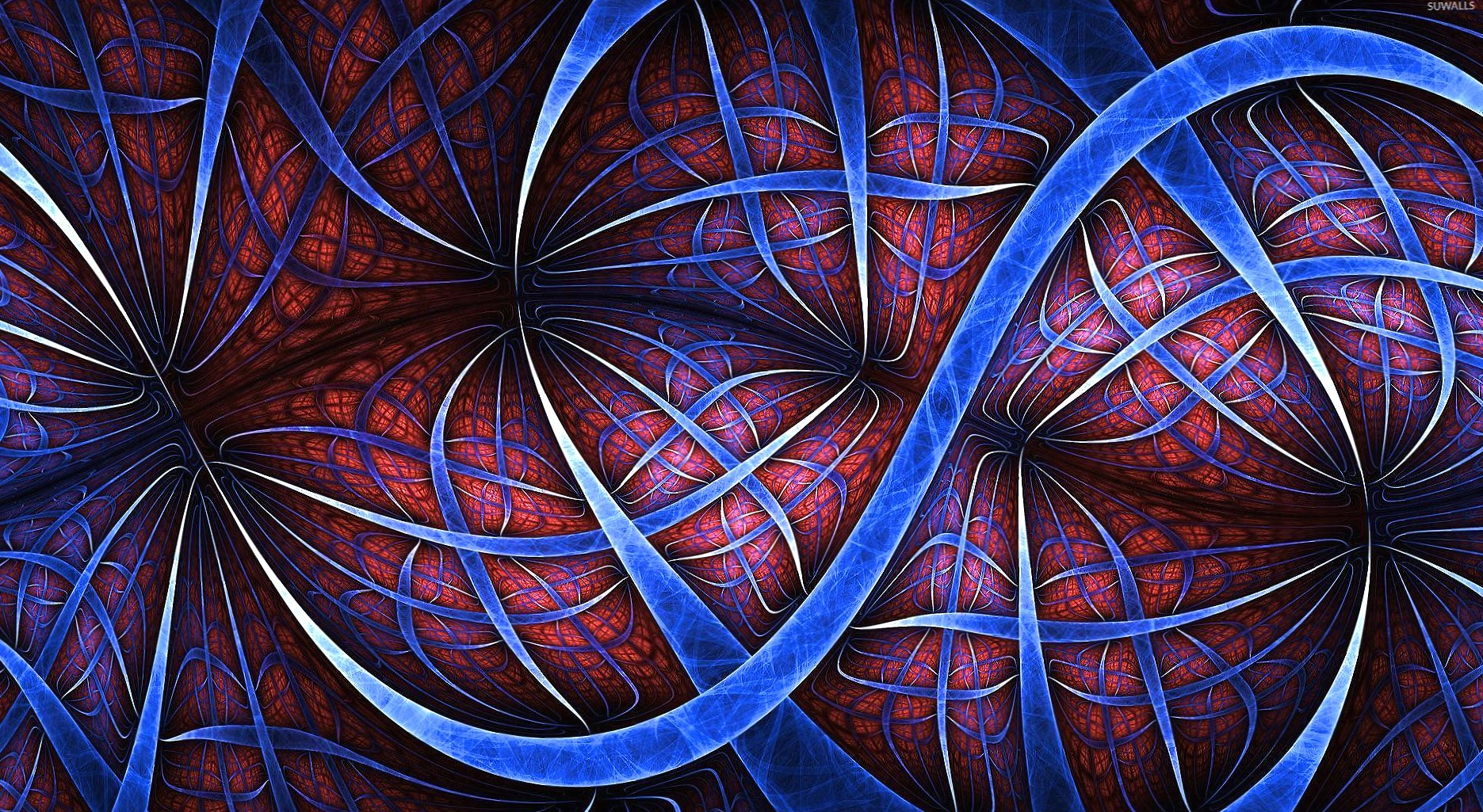 Wavy fractal lines wallpapers HD quality