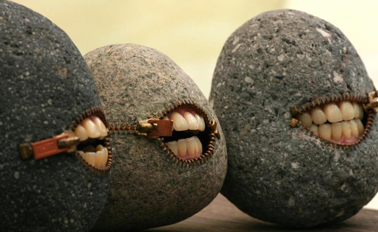 Weird smiling stones wallpapers HD quality