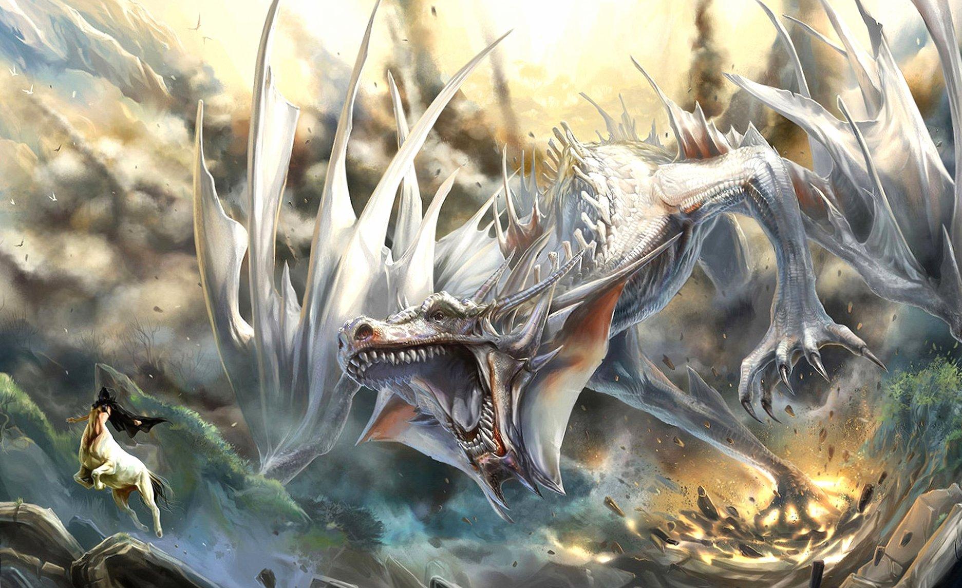White dragon wallpapers HD quality