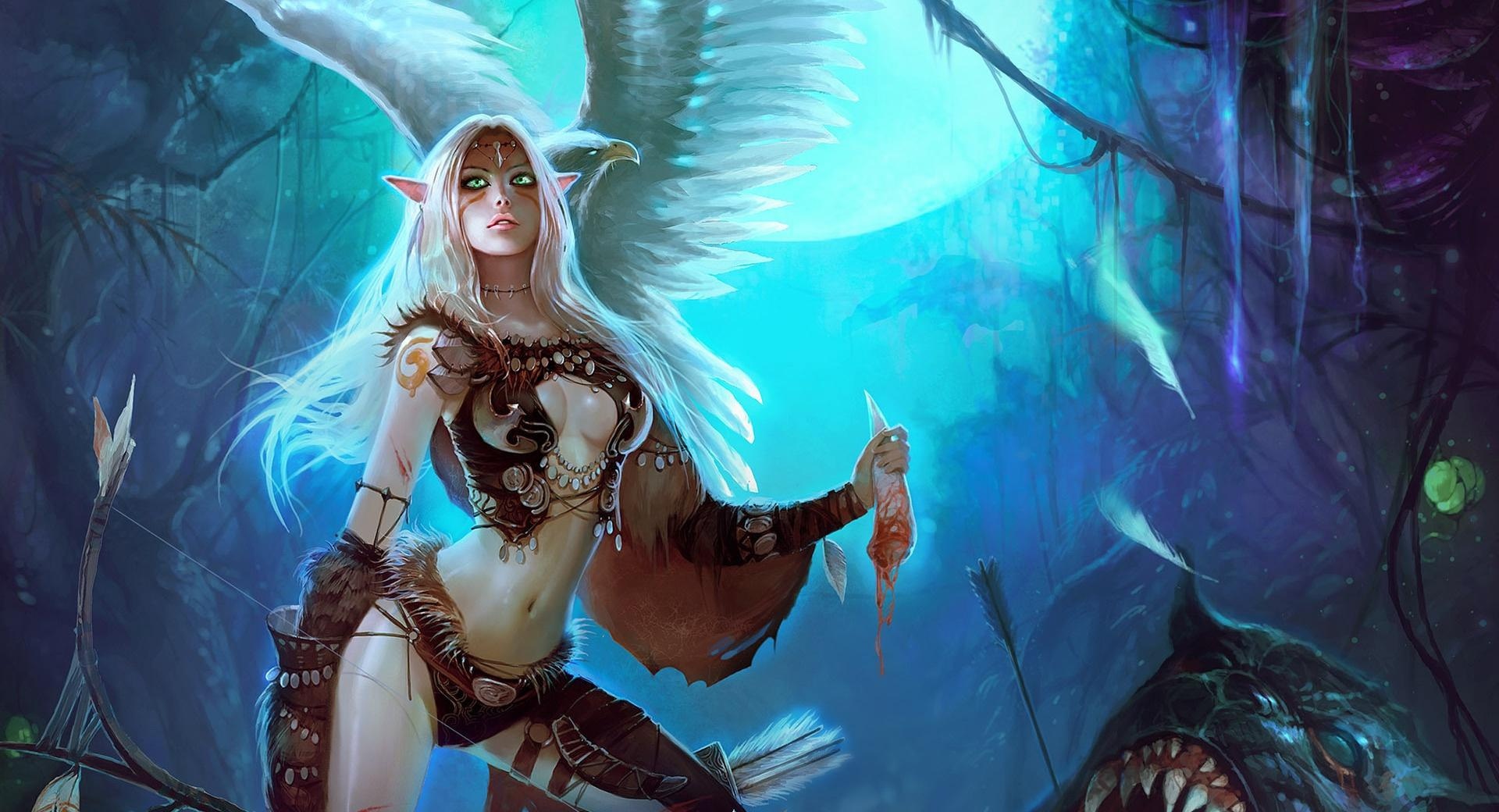 Wild Elf Girl wallpapers HD quality
