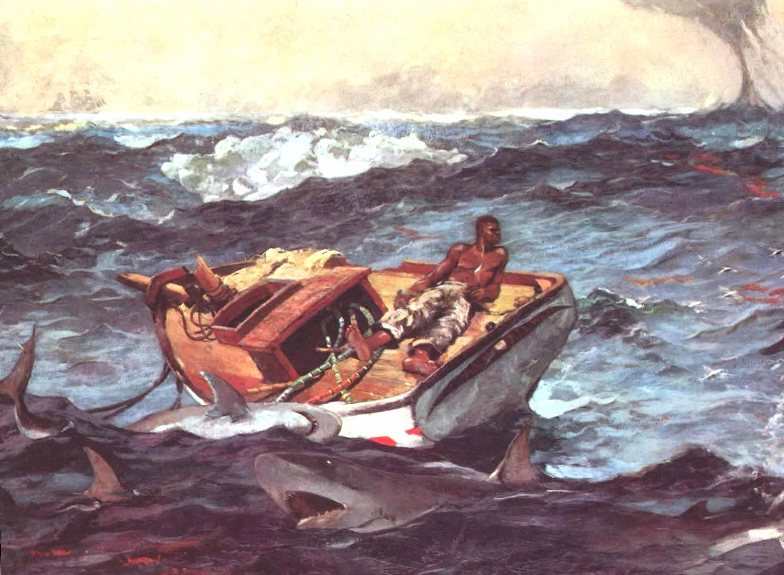 Winslow homer the gulf stream wallpapers HD quality
