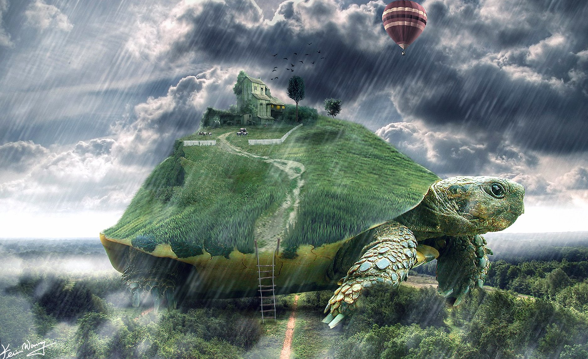 World on turtle wallpapers HD quality