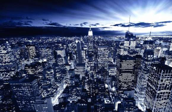 Amazing night landscape city metropolis wallpapers hd quality