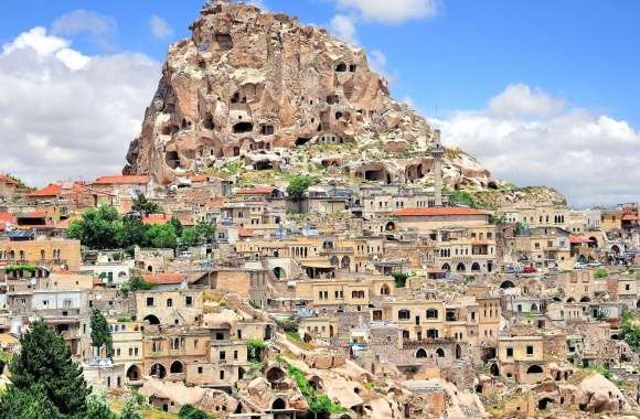 Ancient uchisar cappadocia turkey wallpapers hd quality