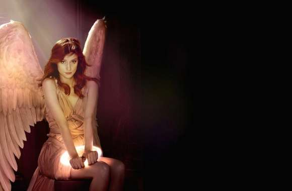 Angel with halo in hands wallpapers hd quality