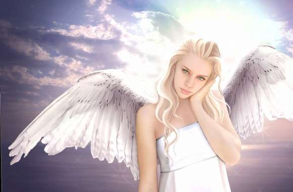 Blonde angel fantasy wallpapers hd quality