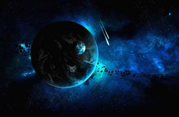 Blue space scene wallpapers hd quality