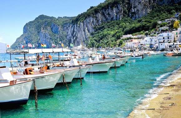 Capri italy boats wallpapers hd quality
