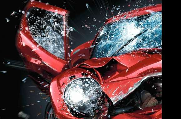 Car explosion 3d digital wallpapers hd quality