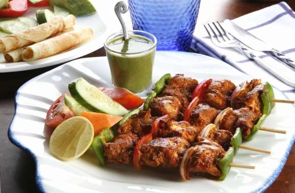 Chicken skewers grill wallpapers hd quality