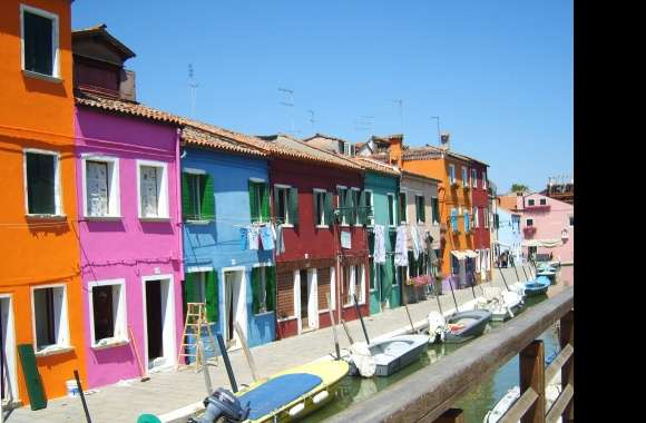 Colorful houses venice italy wallpapers hd quality