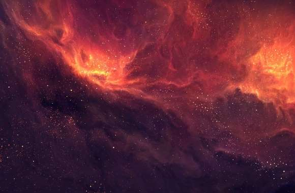Delicate orange nebula wallpapers hd quality