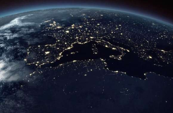 Europe and italy from space wallpapers hd quality