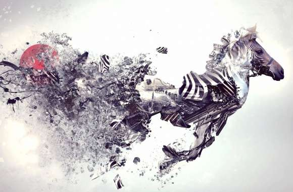 Explosion zebra abstract