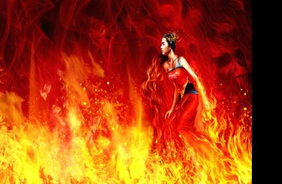 Fire woman wallpapers hd quality