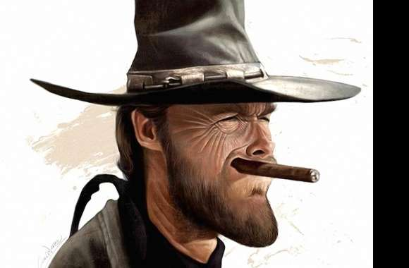 funny clint eastwood caricature
