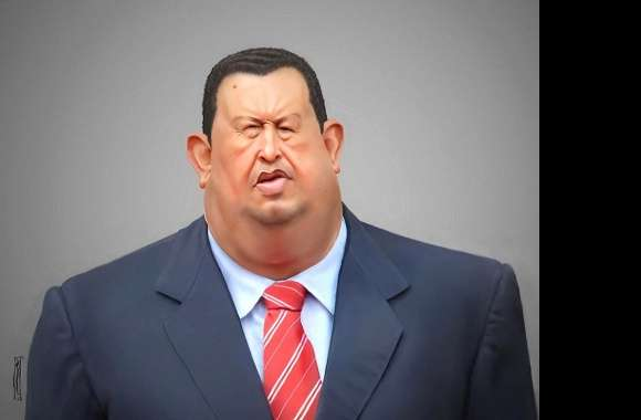 Funny hugo chavez caricature