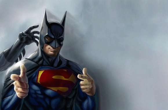 Funny superman disguised as batman wallpapers hd quality