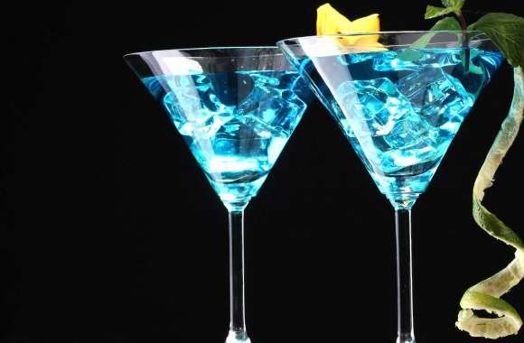Light blue cocktails