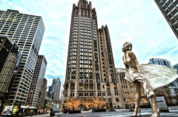 Marilyn monroe monument chicago wallpapers hd quality